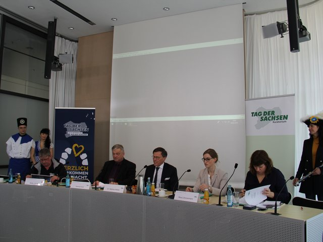Pressekonferenz im Sächsischen Landtag